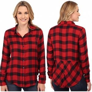 Lucky brand plaid flannel button down M